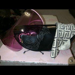 Pink Versace sunglasses